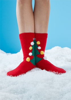 Knit pattern for Regia yarn - Crazy Christmas socks