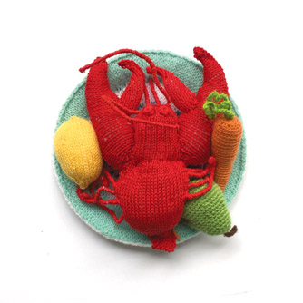 Knitted lobster